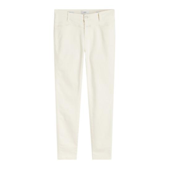 Jeans Skinny Pusher schmal creme