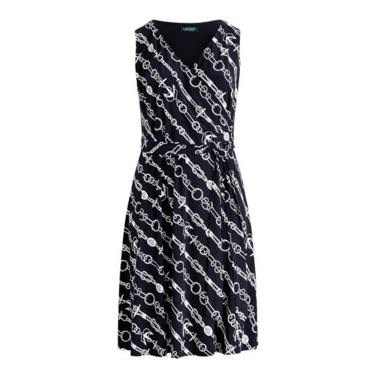 Kleid mit maritimem Ankermuster