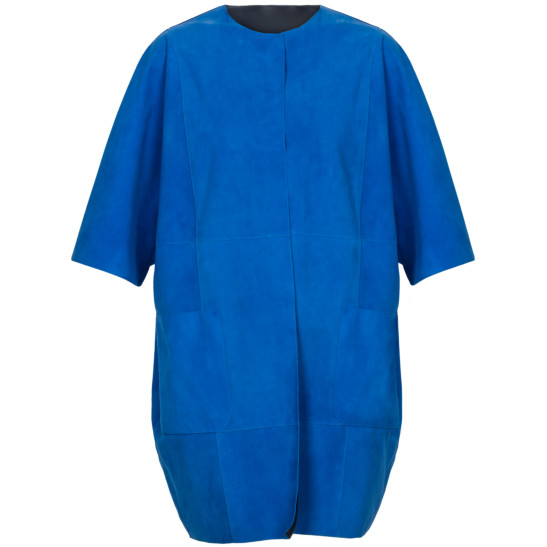 Mantel aus Veloursleder und Nappa-Leder