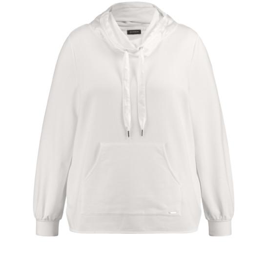 Sweatshirt mit glänzendem Organza