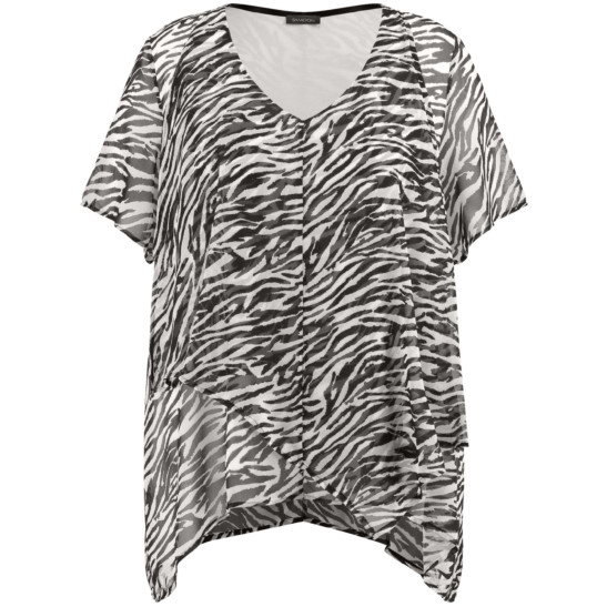 Tunika in aufregendem Zebra-Muster