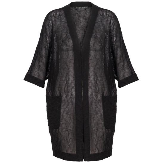 Leicht transparenter Kimono-Überwurf